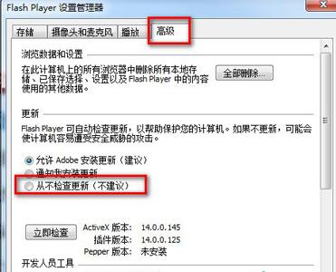 这样做禁止flash插件自动更新